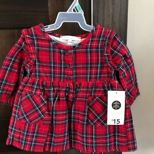 New with tags plaid baby girl dress
